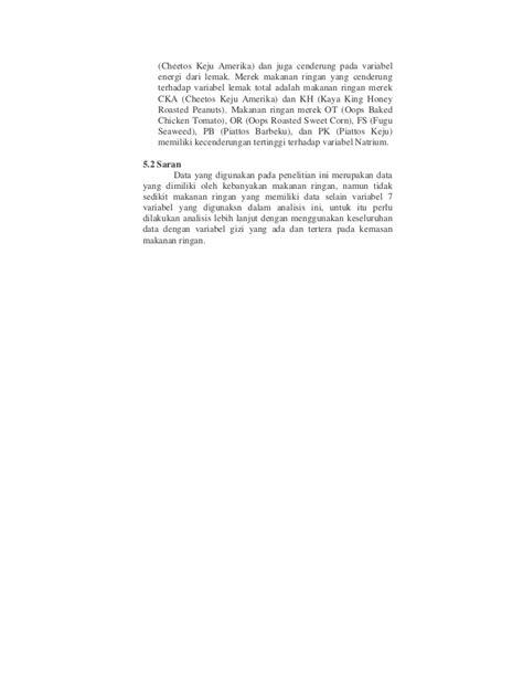 Pustaka Ilmu Makanan Dan Gizi analisis statistika terhadap kandungan gizi pada makanan