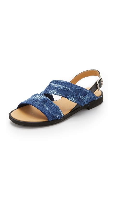 Flat Shoes Martin mm6 by maison martin margiela flat sandals in blue lyst