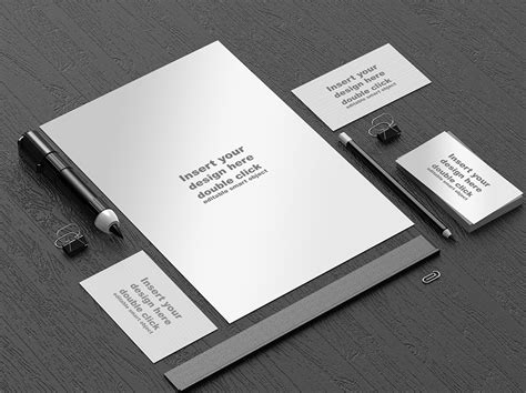 template mockup office stationery mockup template free psd