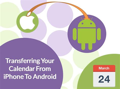 how to transfer from iphone to android how to transfer your calendar from iphone to android