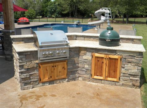 beautiful outdoor kitchens beautiful backyard with big green egg built into the