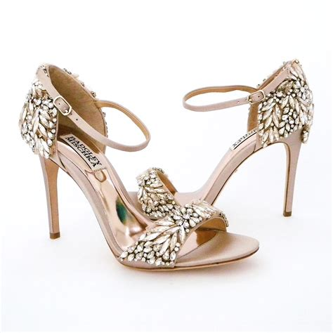 braut sandalen badgley mischka shoes sale ta nude crystal bridal sandal