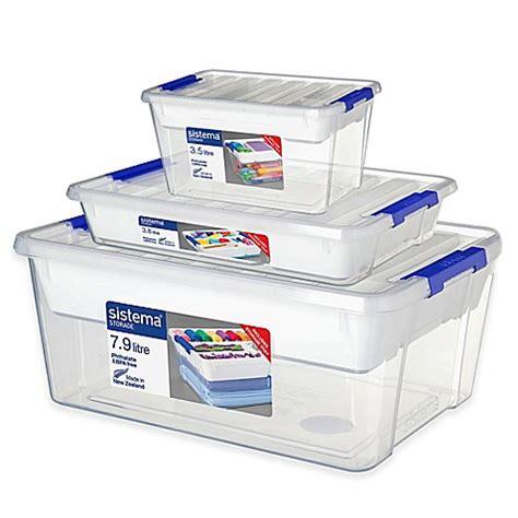 bed bath and beyond storage bins sistema storage bin with tray and lid bed bath beyond