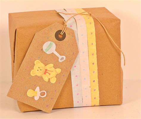 Baby Shower Wrapping Ideas by Baby Shower Gift Wrapping Kraft Paper
