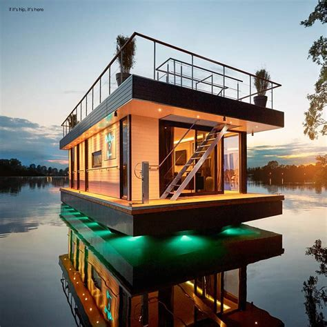 Micro Houses Plans by Eco Friendly Rev House Houseboats Are Floating Luxury