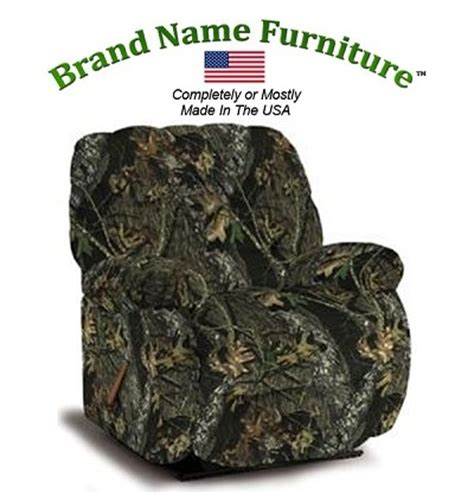 big man camo recliner camouflage big man recliner rocker in mossy oak 174 new break