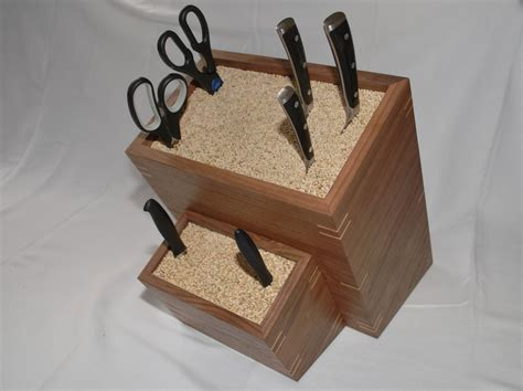 Handmade Woodworking - handmade custom made knife block by clark wood creations