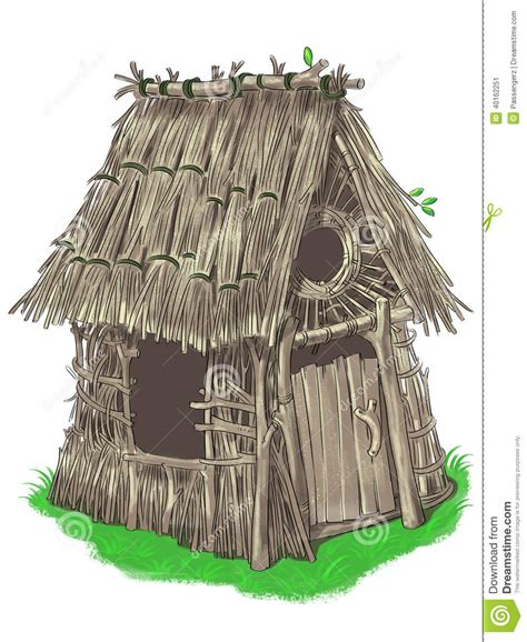 stick house fairy house from three little pigs fairy tale stock illustration image 40162251