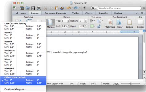 booklet layout in word 2011 mac ms word 2011 for mac change the page margins