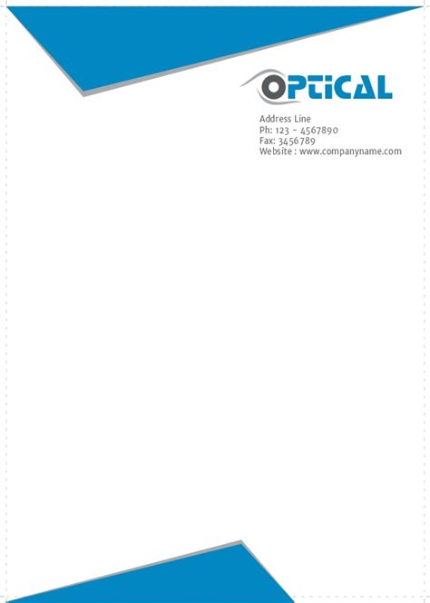 Letterheads Free Templates For Optical Shop