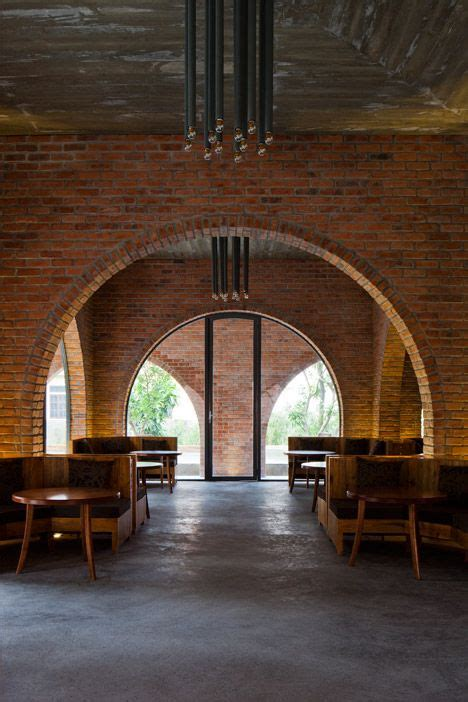 grid   red brick arches frames  interior