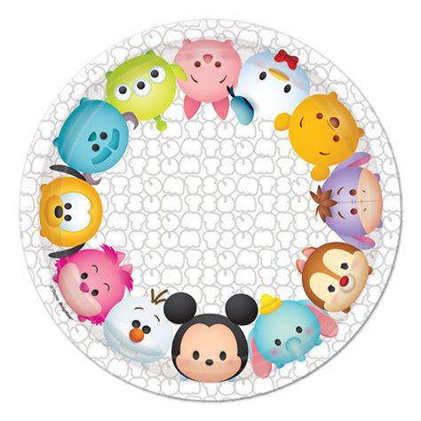 Ice Decorations Disney Tsum Tsum Dessert Plates 8