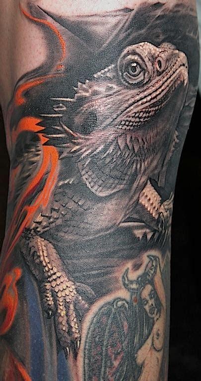 bearded dragon tattoo bearded by tony adamson tattoonow