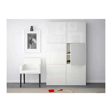 white besta best 197 combinaison rangement portes blanc selsviken