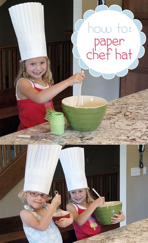 How To Make A Paper Chef Hat For - how to make a paper chef hat make paper chef hats and paper