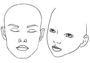 Blank Makeup Template by Blank Template Paint World