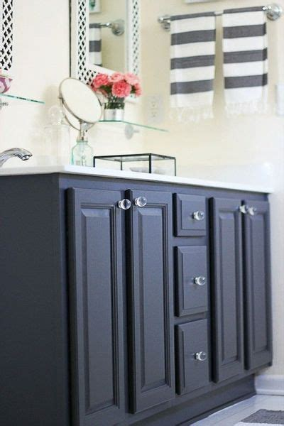 painted bathroom vanity before and after bath ideas