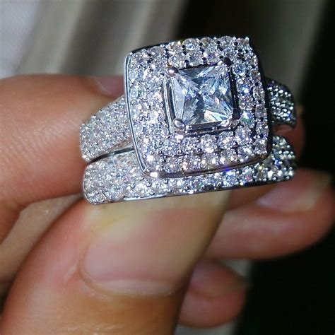 Aliexpress Rings   victoria wieck nice jewelry 134pcs topaz simulated diamond