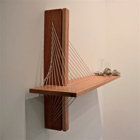 unique shelving unique shelf that was inspired by suspension bridge
