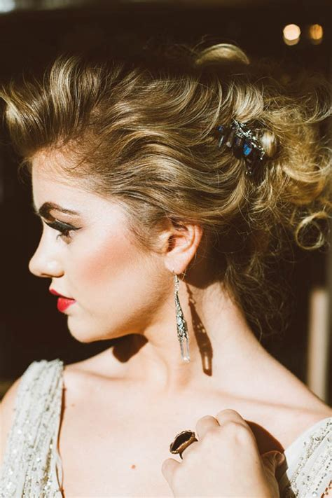 Vintage Wedding Hair And Makeup Glasgow by Modern Vintage Bridal Inspiration In Joyce Couture