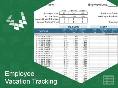 Employee Vacation Tracking Template Meylah Employee Vacation Accrual Template