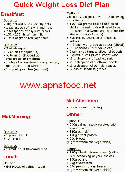 printable diet plan for quick weight loss quick weight loss diet plan apna food