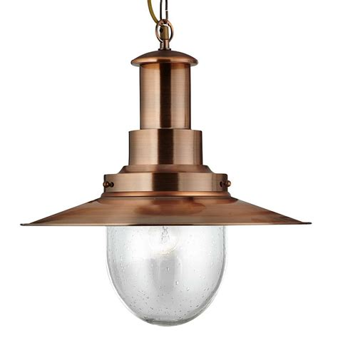 fisherman pendant light replacement glass 5301co copper large fisherman pendant with seeded glass