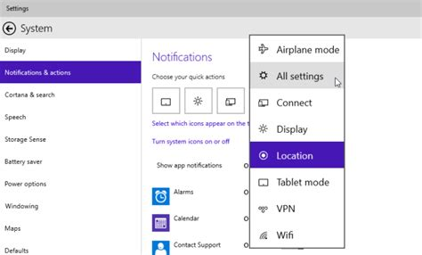 dropbox quick action button customize quick action buttons in windows 10 notification