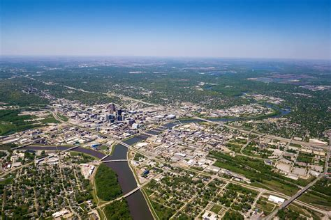 in des moines iowa free stock photo of aerial photo of des moines iowa from