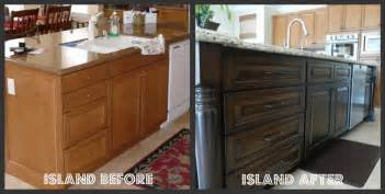 Staining Kitchen Cabinets Darker Before And After Staining Kitchen Cabinets Before And After Pictures
