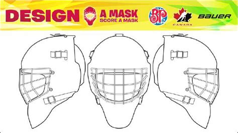 mask layout design software details announced for boston pizza and bauer design a mask