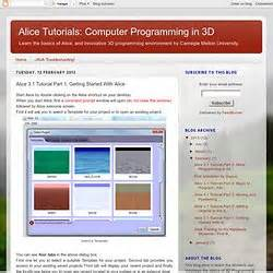 online tutorial computer programming alice 3 programming pearltrees