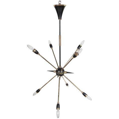 Black Sputnik Chandelier Mid Century Italian Eight Arm Sputnik Chandelier In Brass