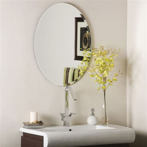 frameless mirror for bathroom oval frameless bathroom mirror dcg stores