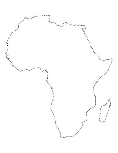 Blank Outline Of Africa by Printable Map Of Africa For Students And Africa Map Template
