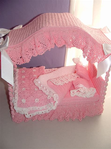barbie doll beds barbie doll canopy bed in crochet custom order only