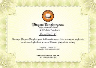layout sertifikat penghargaan asep rizal mh contoh design piagam sertifikat