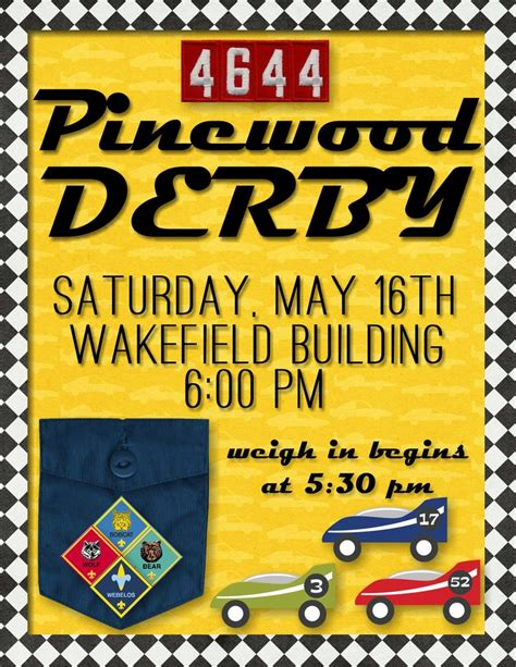 pinewood derby flyer template 17 best images about primary on scriptures