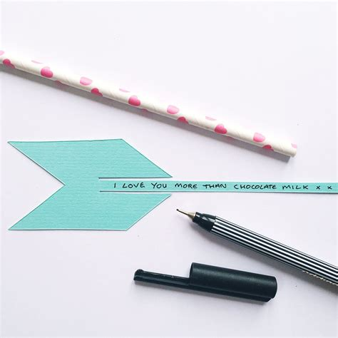 How To Make A Paper Arrow - make paper arrow valentines day card sewyeah