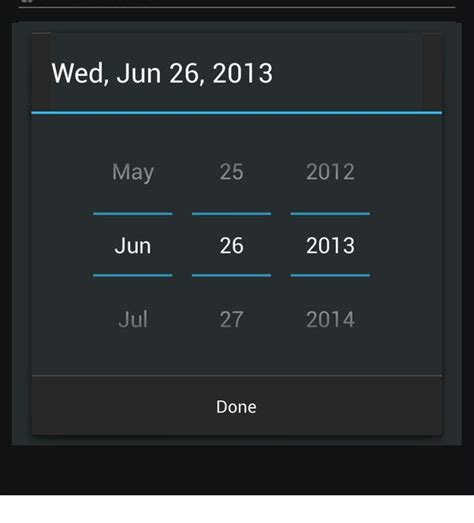 android date picker change divider color or theme of android datepicker dialog stack overflow