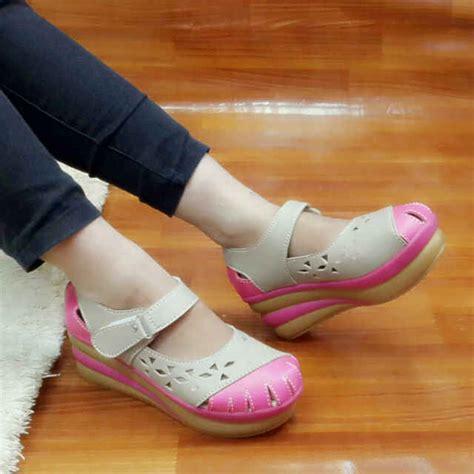 Baru Sepatu Wedges Wanita Pink Sds158 3 jual rhidofa sepatu sandal wanita replika kickers kiebb