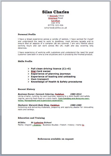video cv layout uk resume format free excel templates