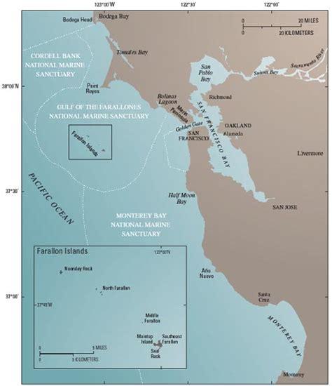 san francisco islands map beyond the golden gate oceanography geology biology