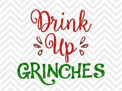 christmas wine glass svg drink up grinches christmas wine santa chimney svg file
