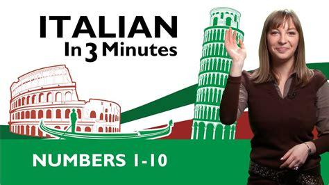len italien learn italian italian numbers 1 10