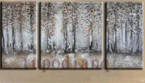 modern home decor abstract tree painting birch trees birch tree no framed painting abstract modern art canvas