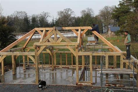 Oak joists timber frame
