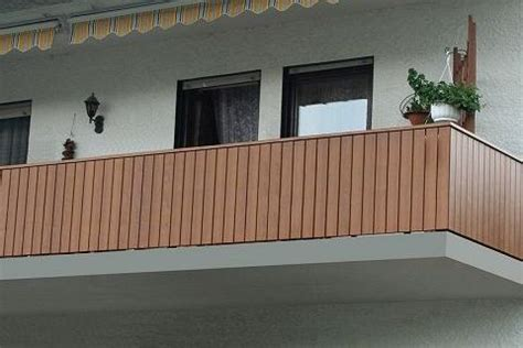 terrassengeländer holz kaufen balkongel 228 nder holzkomplett de