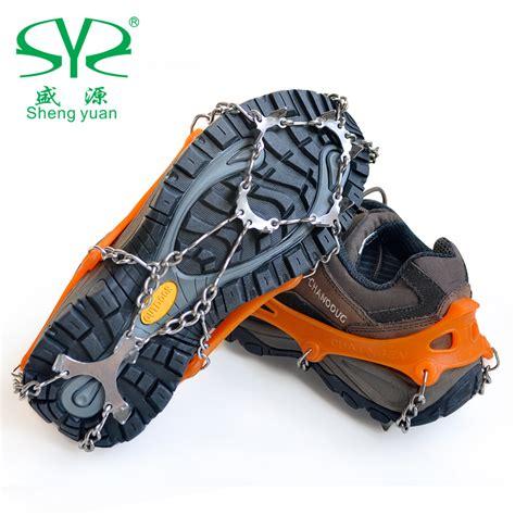 anti slip resistant non slip snow shoes 12 teeth cron