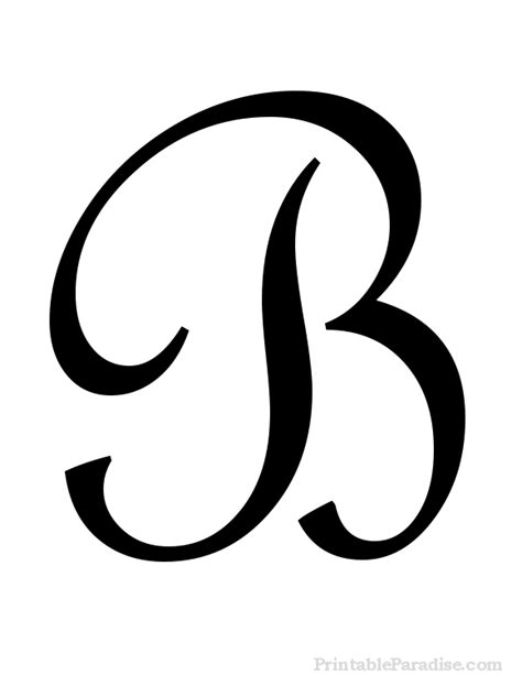 printable cursive letters printable letter b in cursive writing ideas